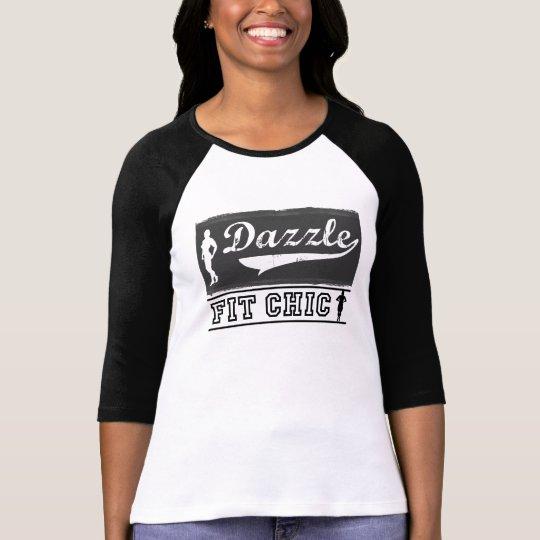 Dazzle Fit Chic Baseball 3/4 Sleeve Shirt