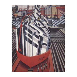 Dazzle-ships in Drydock wrapped canvas print