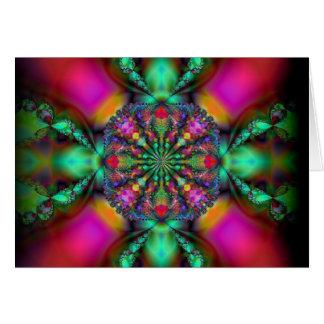 """dazzled"" ~ gorgeous fractal art note card"