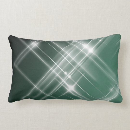 Dazzler Lumbar Pillow (Green & Black)