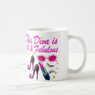 DAZZLING 40TH DIVA COFFEE MUG