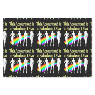 DAZZLING ACCOUNTANT DIVA DESIGN TISSUE PAPER