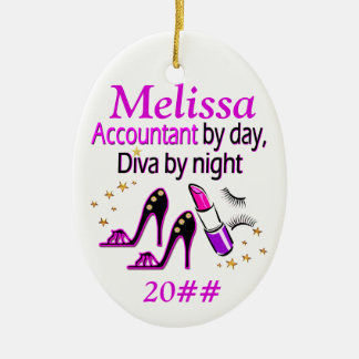 DAZZLING ACCOUNTANT DIVA PERSONALIZED ORNAMENT