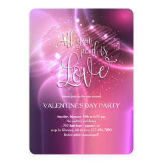 Dazzling All You Need Is Love Invitation