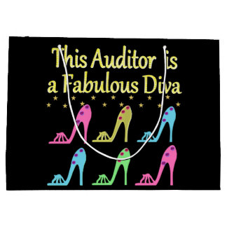 DAZZLING AUDITOR DIVA DESIGN LARGE GIFT BAG