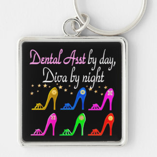 DAZZLING DENTAL ASSISTANT SHOE QUEEN KEYCHAIN