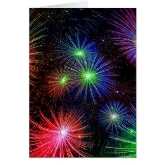 Dazzling Fireworks Card