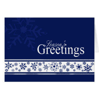 Dazzling Flakes business Christmas card