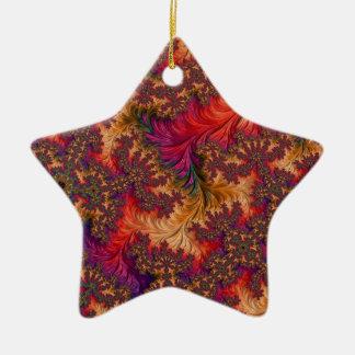 Dazzling Fractal Ceramic Ornament