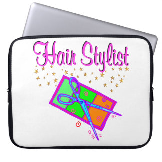 DAZZLING HAIR STYLIST AND BEAUTICIAN COMPUTER SLEEVES