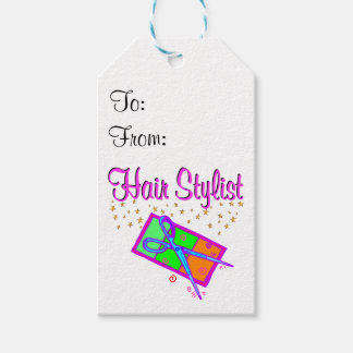 DAZZLING HAIR STYLIST AND BEAUTICIAN PACK OF GIFT TAGS