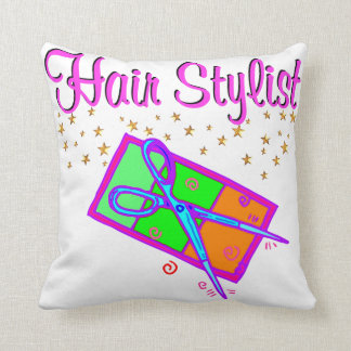DAZZLING HAIR STYLIST AND BEAUTICIAN PILLOW