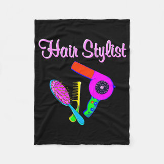 DAZZLING HAIR STYLIST TEES AND GIFTS FLEECE BLANKET