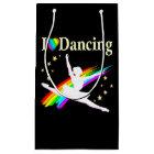 DAZZLING I LOVE DANCING BALLERINA DESIGN SMALL GIFT BAG