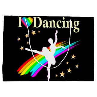 DAZZLING I LOVE DANCING DESIGN LARGE GIFT BAG