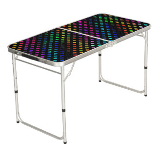 Dazzling Multi Colored Diamonds Beer Pong Table