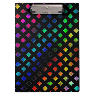 Dazzling Multi Colored Diamonds Clipboard