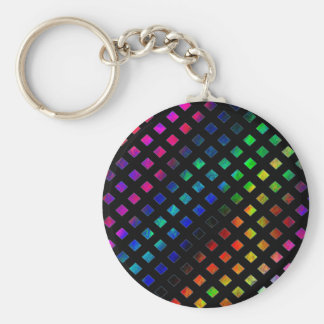 Dazzling Multi Colored Diamonds Keychain