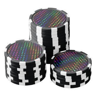 Dazzling Multi Colored Diamonds Poker Chips