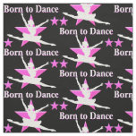 DAZZLING PINK AND BLACK BALLERINA FABRIC