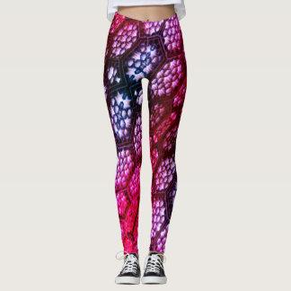 Dazzling Pink and Purple Star Designed Leggings