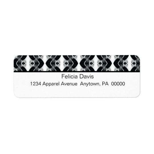 Dazzling Retro Return Address Labels