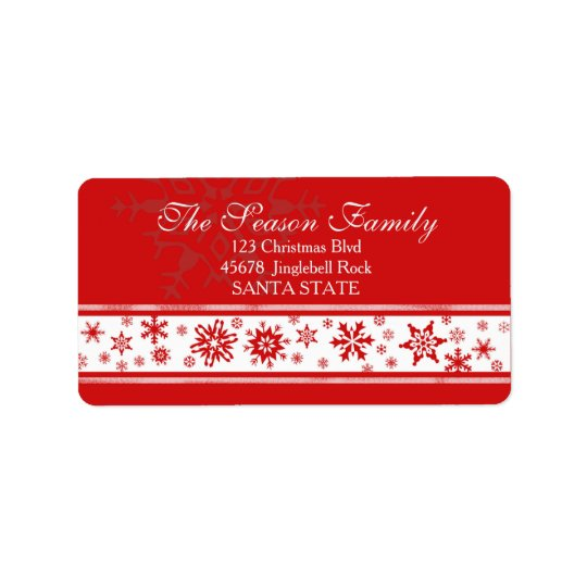 Dazzling Snowflake Holiday Address Label