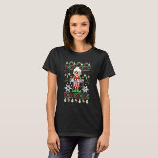 Dazzling Ugly Christmas Granny Elf Gift T-Shirt