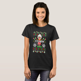 Dazzling Ugly Christmas Stepmom Elf Gift T-Shirt