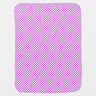 Dazzling Violet Polka Dots Baby Blanket