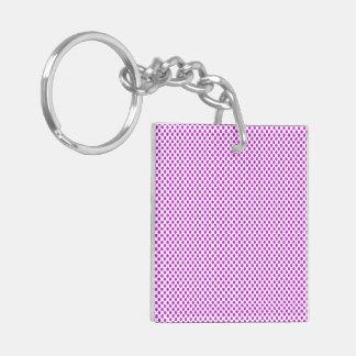 Dazzling Violet Polka Dots Keychain