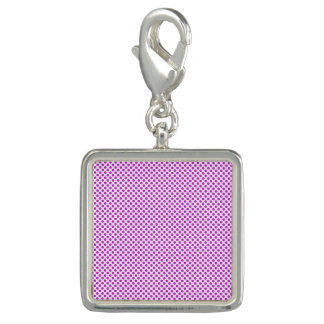 Dazzling Violet Polka Dots Photo Charms