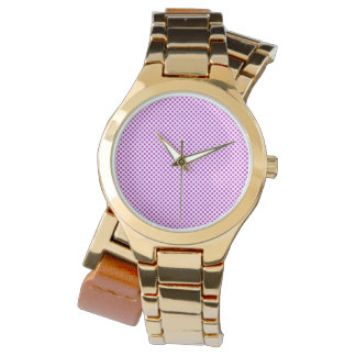 Dazzling Violet Polka Dots Watch