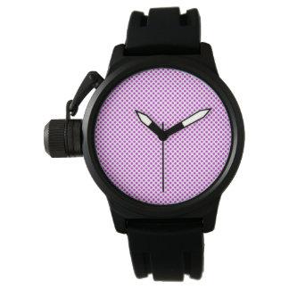 Dazzling Violet Polka Dots Wristwatch