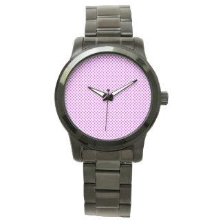 Dazzling Violet Polka Dots Wristwatches