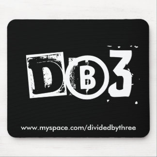 dB3 mouse - w on b Mouse Pad