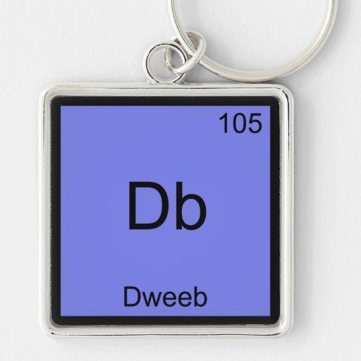 Db - Dweeb Funny Chemistry Element Symbol Tee Key Chain