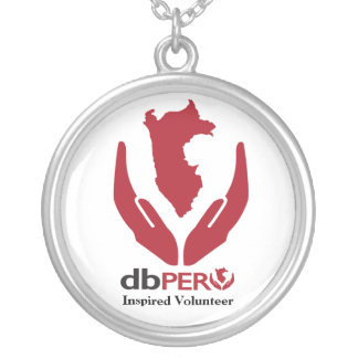 DB Peru Logo Silver Plated Necklace