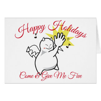 DBY Give Me Five Holidays Greetings Card