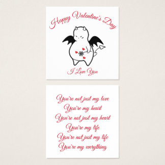 DBY Happy Valentine's Day Square Business Card