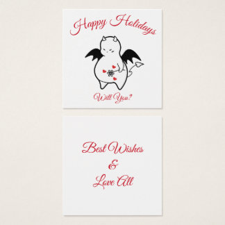 DBY Holidays Greetings for ??? Square Business Card