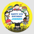 DC Comics | Justice League - Chibi Birthday Classic Round Sticker