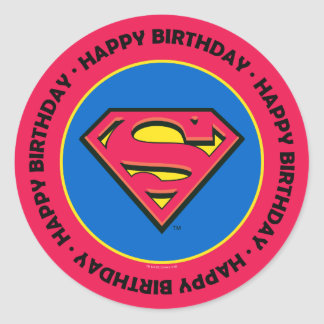 DC Comics   Superman   Classic Logo Classic Round Sticker