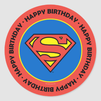DC Comics   Superman   Classic Logo Round Sticker