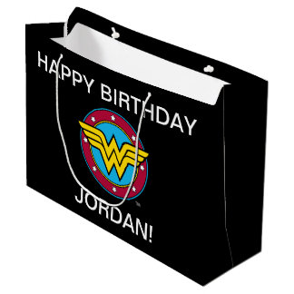 DC Comics | Wonder Woman Circle & Stars Logo Large Gift Bag