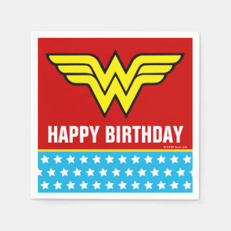 DC Comics | Wonder Woman Logo | Happy Birthday Napkin
