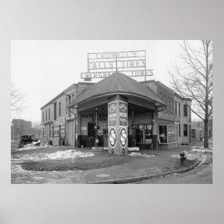 DC Gas Station, 1921 Print