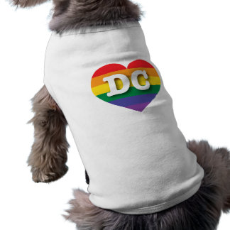 DC Gay Pride Rainbow Heart - Big Love Dog Tee