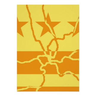 DC Metro Inverted - Gold Poster
