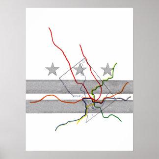 DC Metro Map Poster
